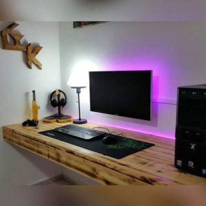 геймерская комната натуральное дерево